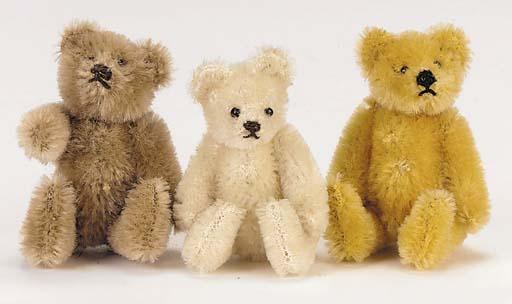 A miniature Steiff teddy bear