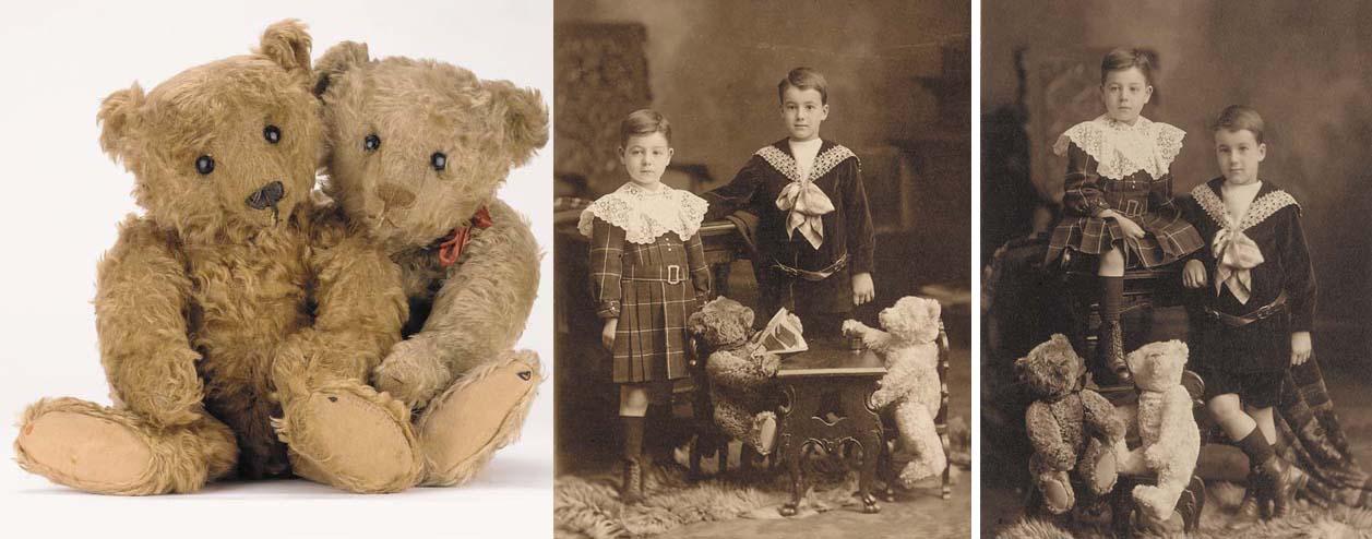 Two Steiff teddy bears