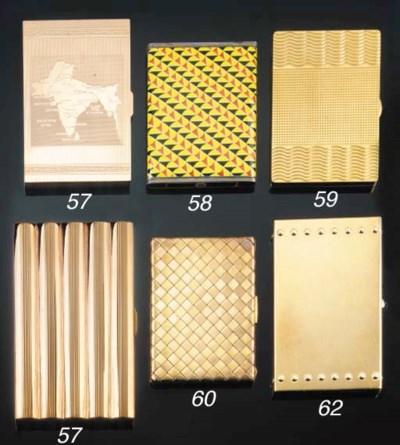A 9CT. GOLD CIGARETTE CASE AND