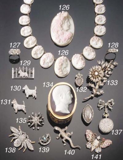 A 19TH CENTURY DIAMOND THREE S