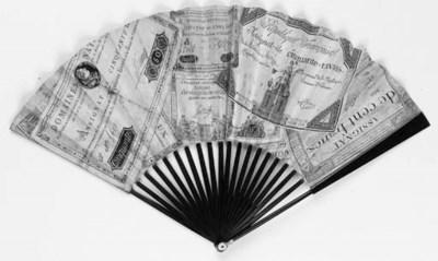 A Rare Applique Assignat Fan,