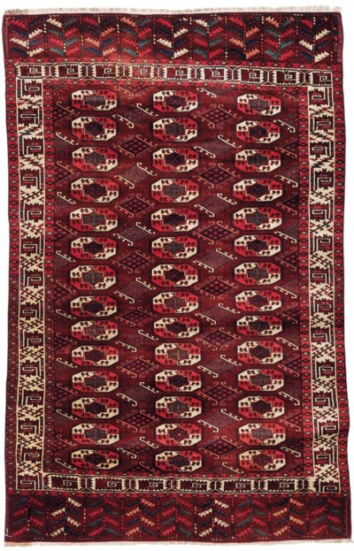 An antique Yomut carpet
