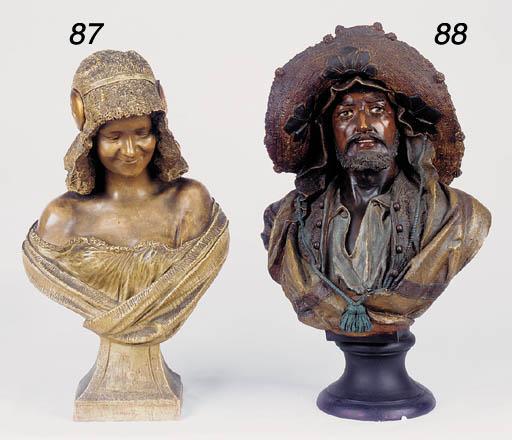 An Austrian terracotta bust of