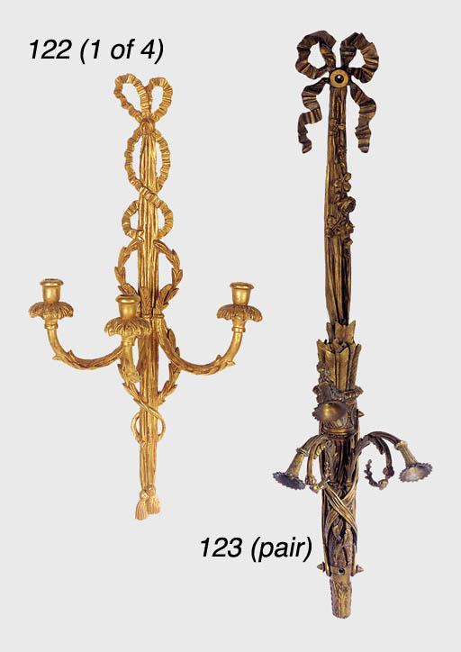 A set of four Continental gilt
