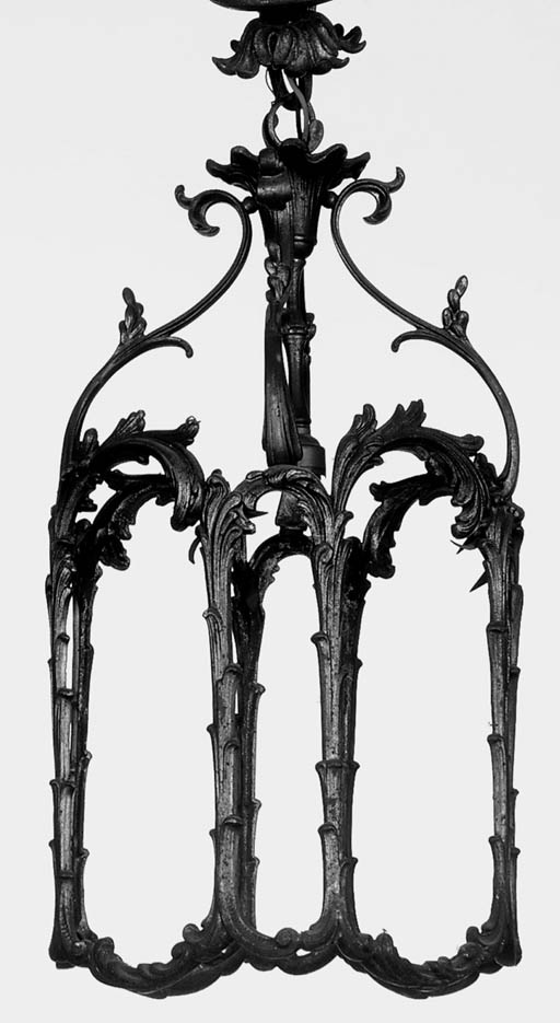 A French gilt brass hall lante