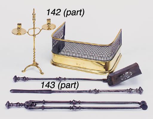 A Victorian miniature brass an
