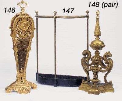 An English brass and cast iron