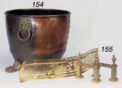 A circular copper log bin, 19t