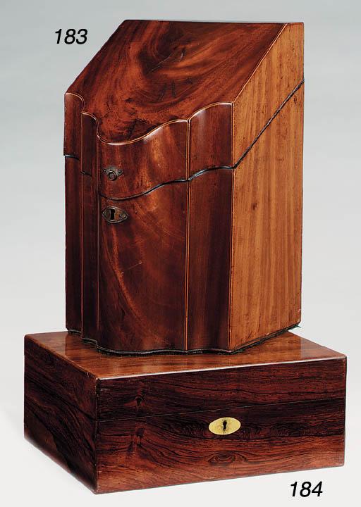 A George III mahogany knife bo
