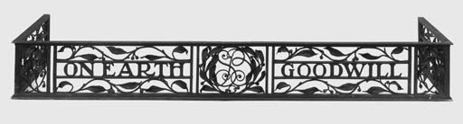 An English wrought iron fender