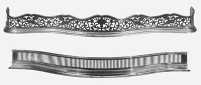 A Victorian brass fender, last