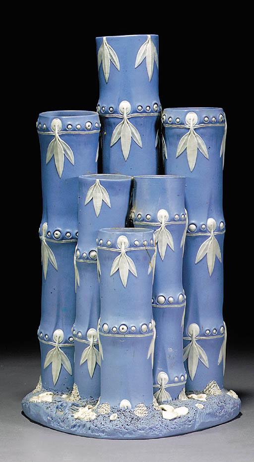 A Wedgwood pale-blue Jasper fl