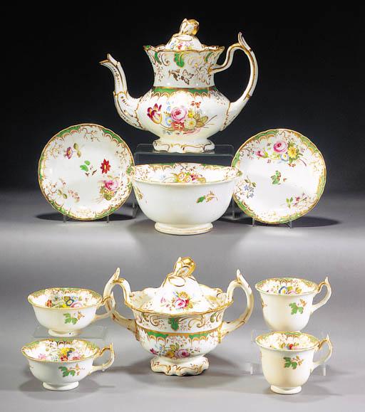 A Rockingham part tea and coff