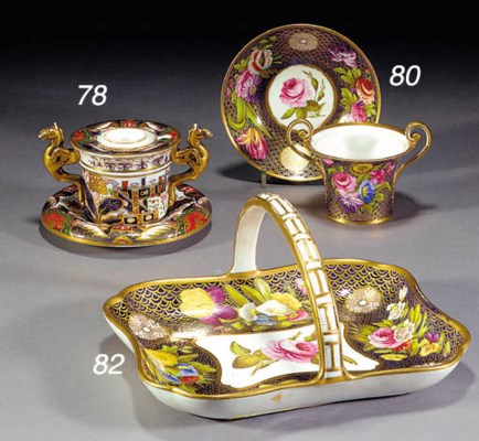 A Spode two-handled cup and st
