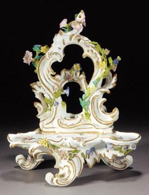 A Meissen rococo scroll-moulde