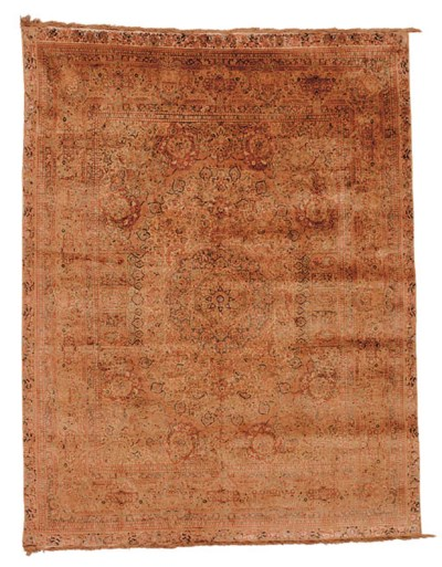 An extremely fine silk carpet,