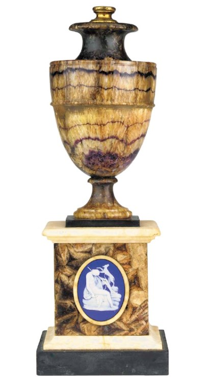 A George III Blue John urn