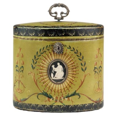 A George III papier mache tea