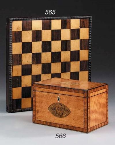 A George III satinwood tea cad