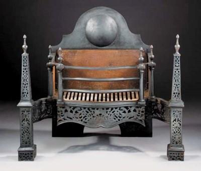 A George III style cast iron f