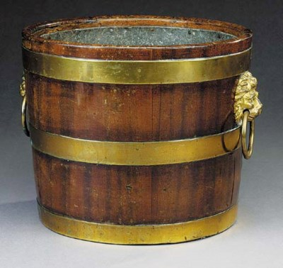 A brass bound mahogany wine co