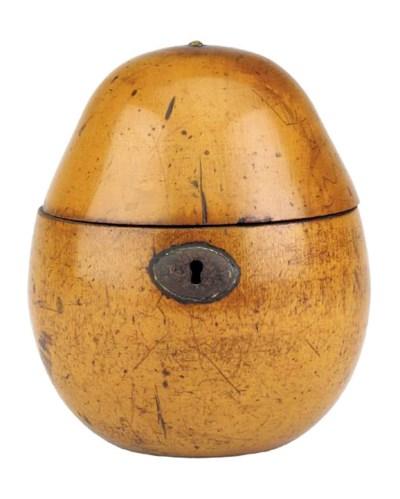 A George III fruitwood pear-sh