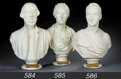 A plaster bust of Sir Robert B