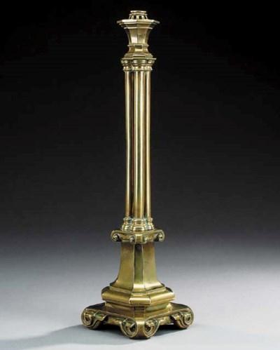 An English brass table lamp ba