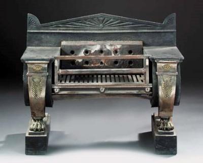 A Regency brass and steel moun