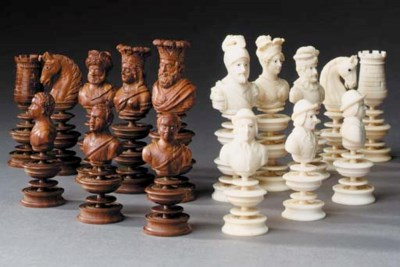 A Continental ivory, coquilla