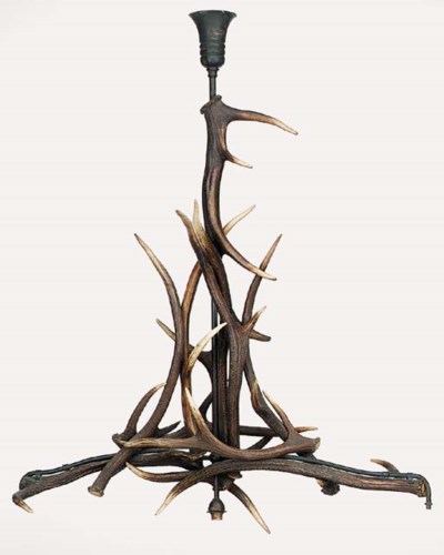 An Antler chandelier, first ha