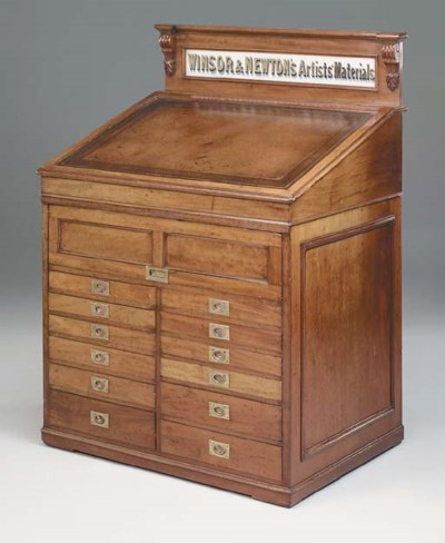 A VICTORIAN MAHOGANY ARTISTS D
