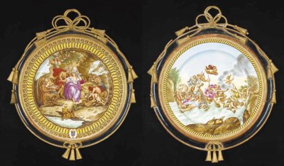 Two large Minton chargers
