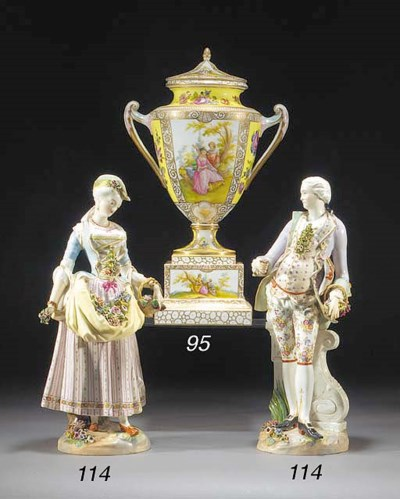 Two German porcelain figures o