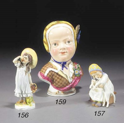 A Meissen figure of a girl
