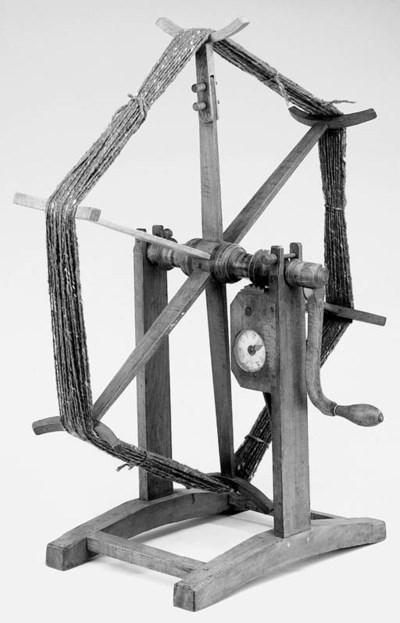 A 19th-Century oak wool-winder