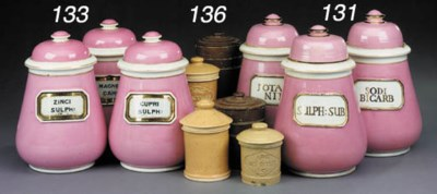 A collection of porcelain phar