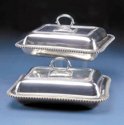A PAIR OF EDWARDIAN SILVER ENT