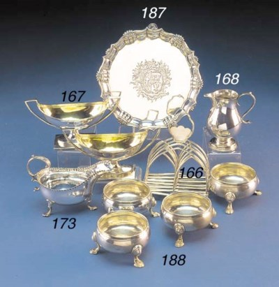 AN EARLY VICTORIAN SILVER TOAS