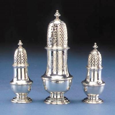 THREE SIMILAR GEORGE II SILVER