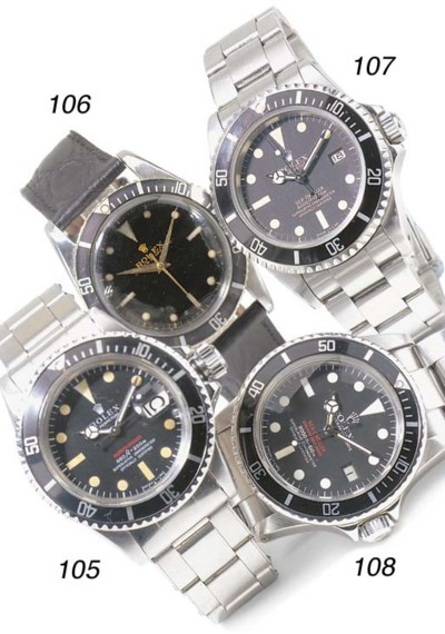 A DIVER'S RARE STAINLESS STEEL