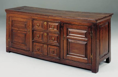 An oak dresser, English, late