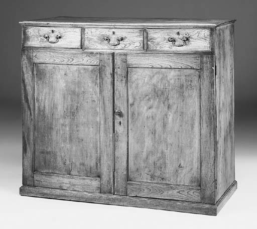An elm linen chest, English, m