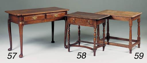 AN OAK SIDE TABLE, ENGLISH, 18