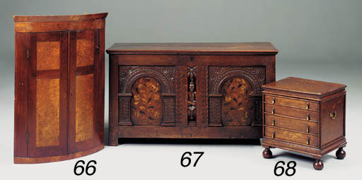 An oak close stool, English, 1
