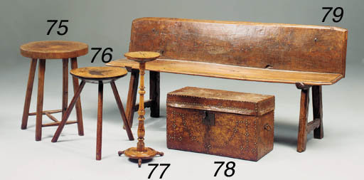 AN ELM BENCH, FRENCH, 19TH CEN