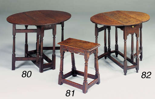 AN OAK AND ASH JOINED STOOL, M