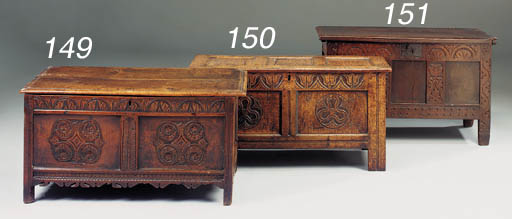 A walnut chest, English, late