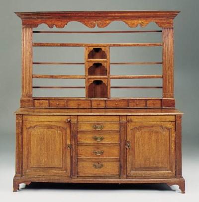 An oak architectural dresser,