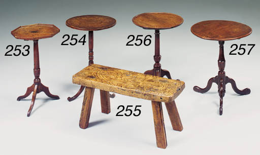 An oak and elm occasional tabl